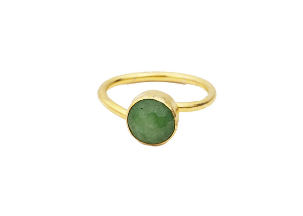 Cora Jade Natural Stone Ring