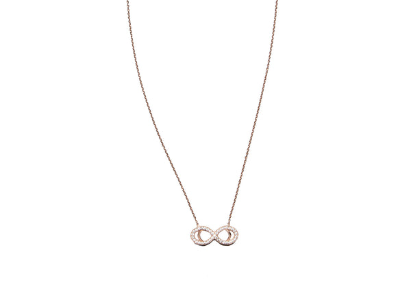 Infinity Rose Gold Plated Silver Necklace