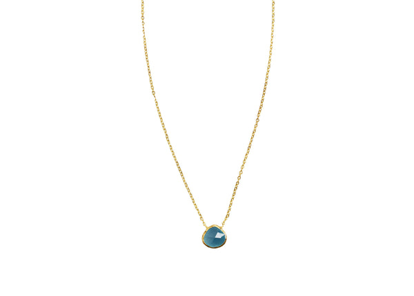Chiya Blue Chalcedony Natural Stone Necklace