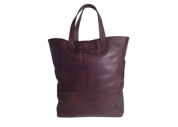 100% Leather Shopper Tote Bag