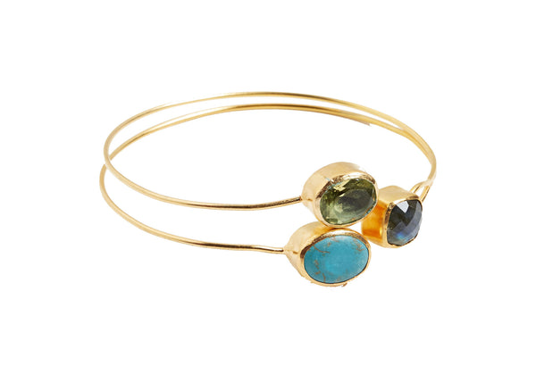 Freya 3 Pc Natural Stone Bangle
