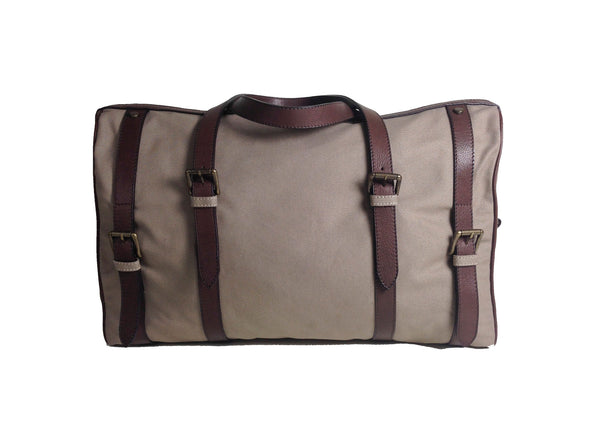 Canvas Leather Weekender Bag