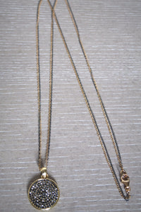 Meche Oxidized Pave Necklace
