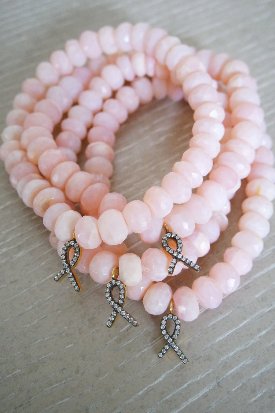 Pink Opal Breast Cancer Bracelet