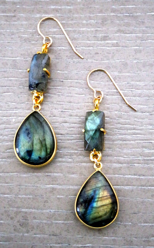 Lili Labradorite Earrings