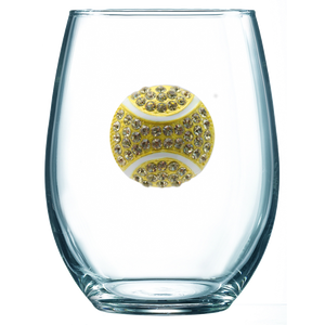 Tennis Jeweled Wine Glass