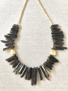 Sistine Smokey Topaz Gemstone Necklace