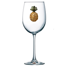Load image into Gallery viewer, Pineapple Jeweled Wine Glass ~ Stemmed