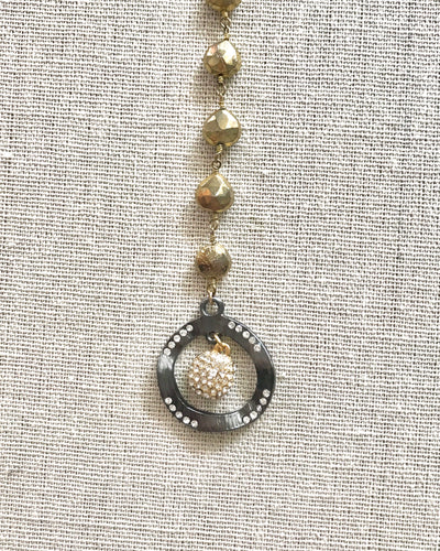 Zane Gold Pyrite Necklace
