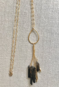 Cecily Smokey Topaz Gemstone Necklace