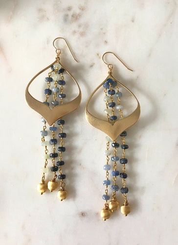 Lauren Blue Sapphire Earrings