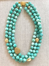 Load image into Gallery viewer, Tia Blue Amazonite Necklace
