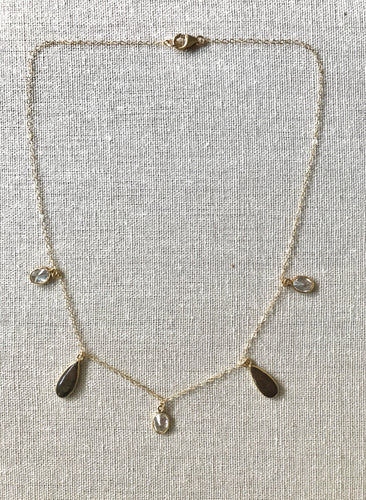 The Dainty Collection ~ Brown Opal Necklace