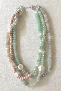 Meghan Mixed Gemstone Triple Necklace