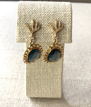 Load image into Gallery viewer, Gina Spinel & Topaz Earrings