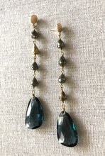 Load image into Gallery viewer, Cici Spinel & Pyrite Earrings