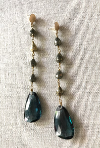 Cici Spinel & Pyrite Earrings