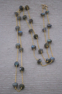 Labradorite Orbit Necklace