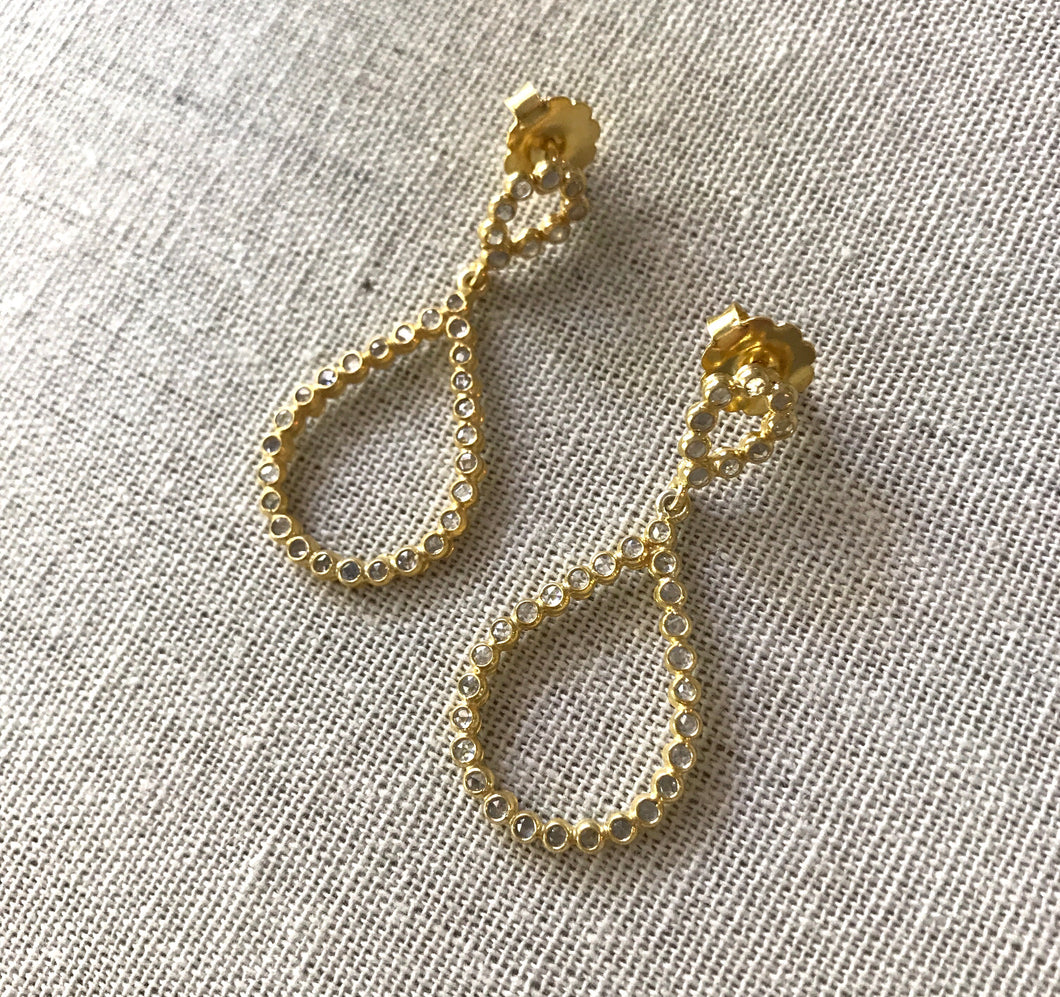 Carla Gold Teardrop Topaz Earrings
