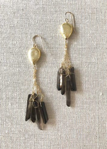 Maurie Smokey Topaz Earrings
