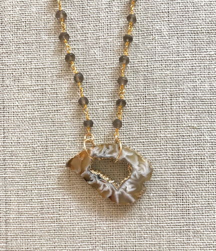 Esme Gold Geode Necklace
