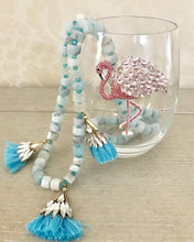 Load image into Gallery viewer, Flamingo Jeweled Wine Glass ~ Stemmed