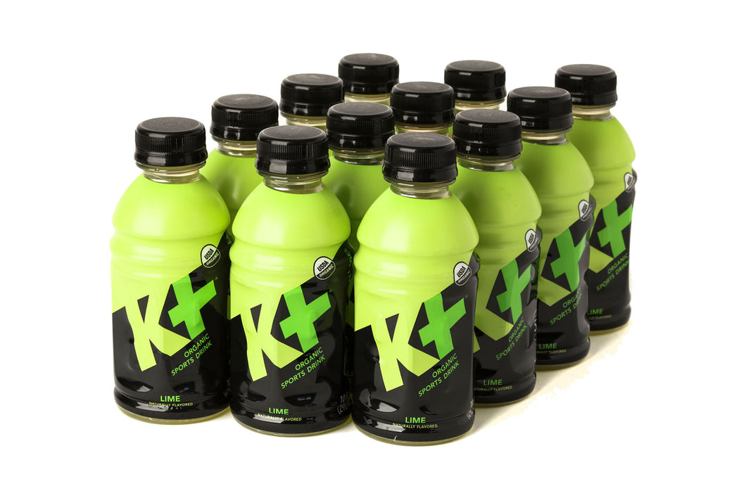 K+ Organic Sports  Lime - 10oz Pack of 12