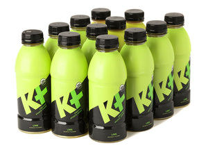K+ Organic Sports Drink  Lime - 16.9oz Pack of 12