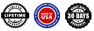 DMOS Limited Lifetime Warranty / Made in the U.S.A. / 30-Day Money Back Guarantee