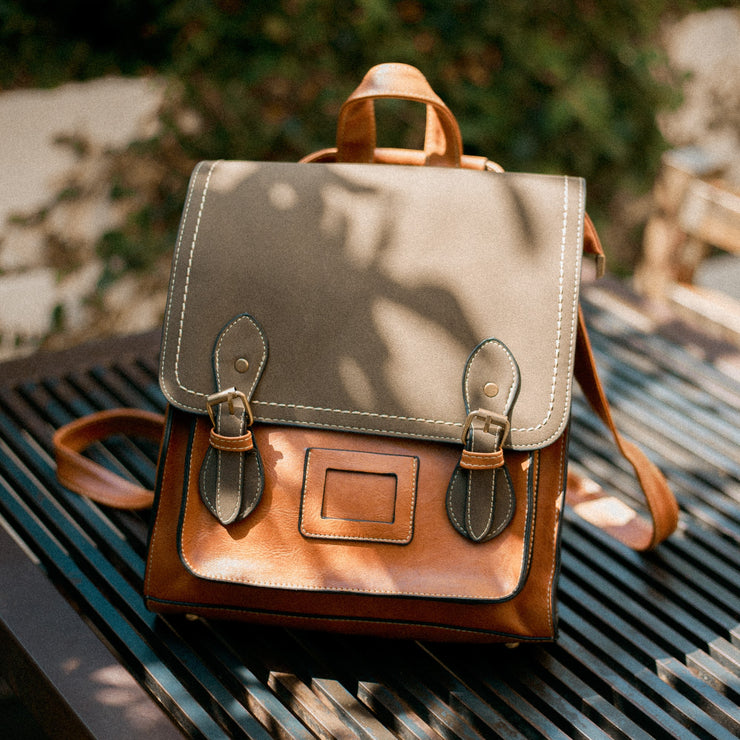 Oxford Leather Backpack