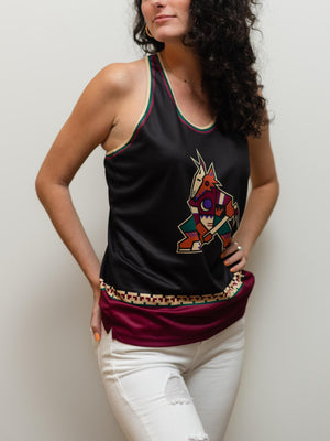 ARIZONA COYOTES ALTERNATE  WOMEN'S RACERBACK HOCKEY TANK - Front - Life3