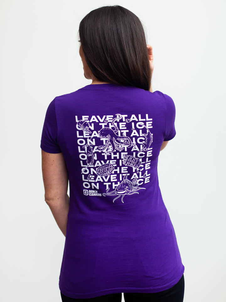 BC LEAVE IT ALL ON THE ICE WOMEN'S T-SHIRT - Life1