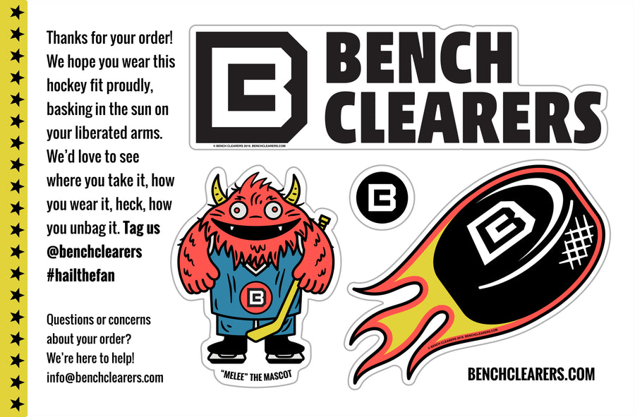 Bench Clearers Sticker Pack