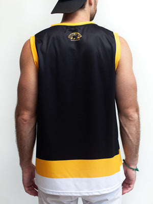 BOSTON BRUINS ALT BLACK HOCKEY TANK - Back - Life1