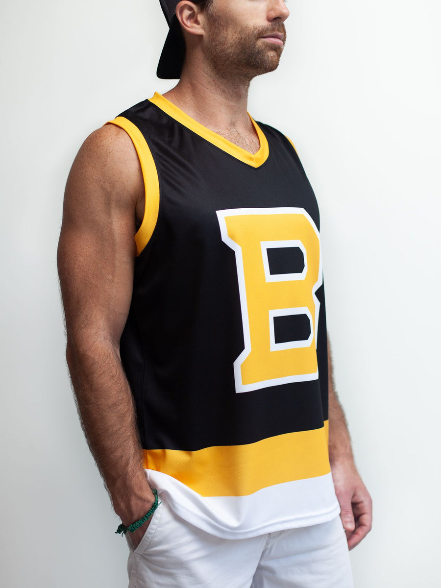 BOSTON BRUINS ALT BLACK HOCKEY TANK - Front - Life3