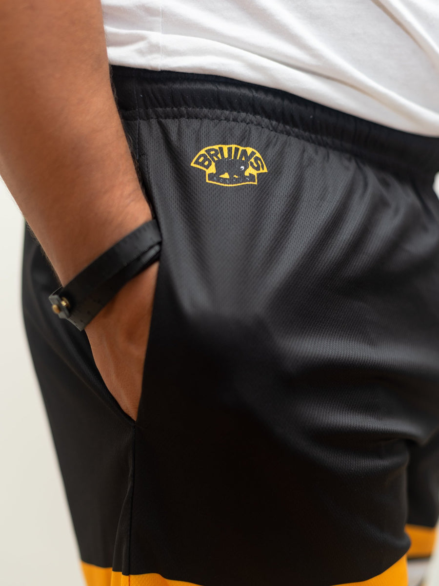 Boston Bruins Mesh Hockey Shorts - Alt Logo