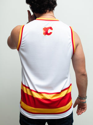 Calgary Flames Retro Hockey Tank - Back - Life1