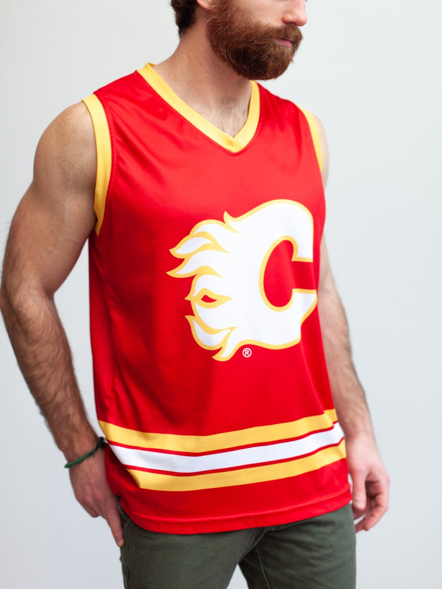Calgary Flames Alternate Hockey Tank - Front - Life2