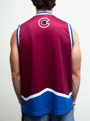 Colorado Avalanche Home Hockey Tank - Back - Life1