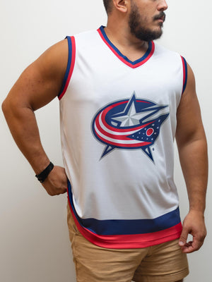 Columbus Blue Jackets Away Hockey Tank - Front - Life2