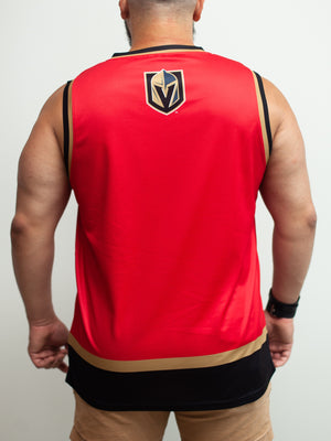 Las Vegas Golden Knights Alternate Mashup Hockey Tank - Back - Life1