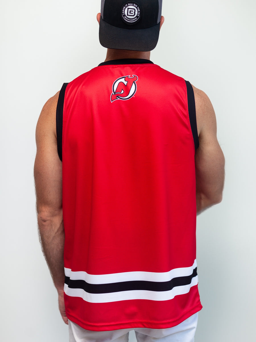 NEW JERSEY DEVILS HOCKEY TANK - Back - Life1
