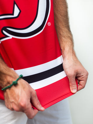 NEW JERSEY DEVILS HOCKEY TANK - Material Close-Up - Life1
