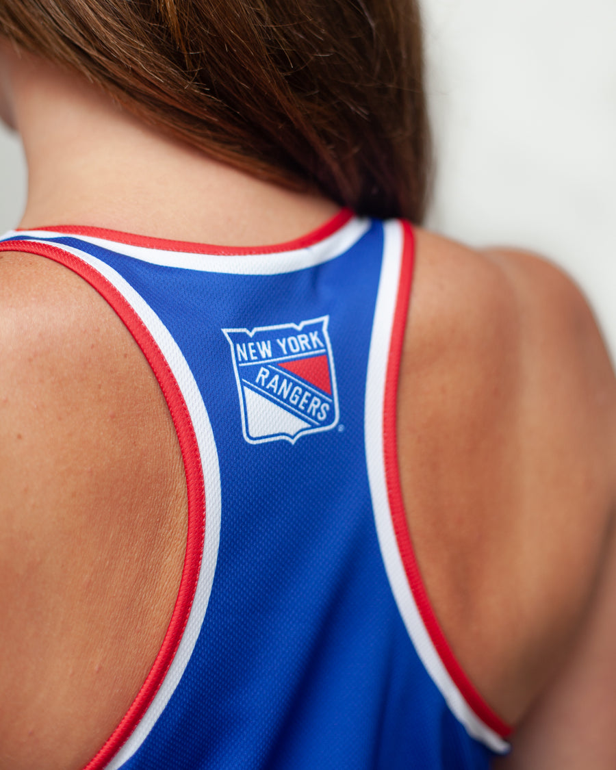 NEW YORK RANGERS WOMEN'S RACERBACK HOCKEY TANK - BACK - Life2