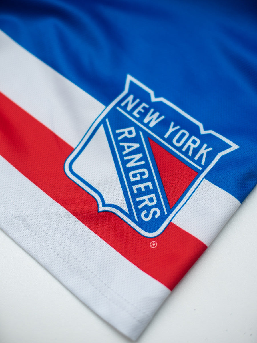 New York Rangers Mesh Hockey Shorts - Logo