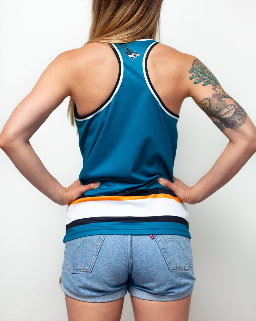 SAN JOSE SHARKS WOMEN'S RACERBACK HOCKEY TANK - BACK - Life1