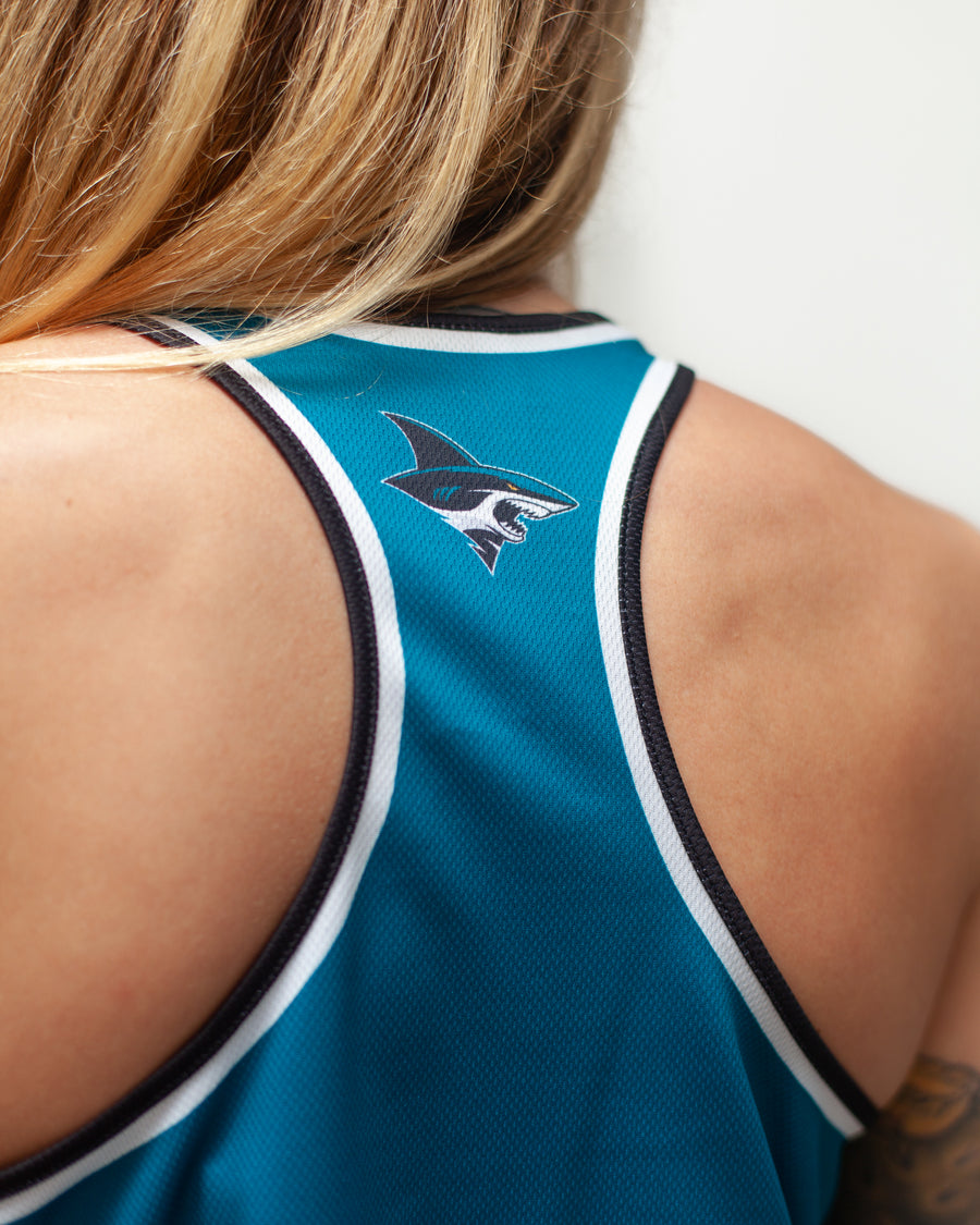 SAN JOSE SHARKS WOMEN'S RACERBACK HOCKEY TANK - BACK  - Life2