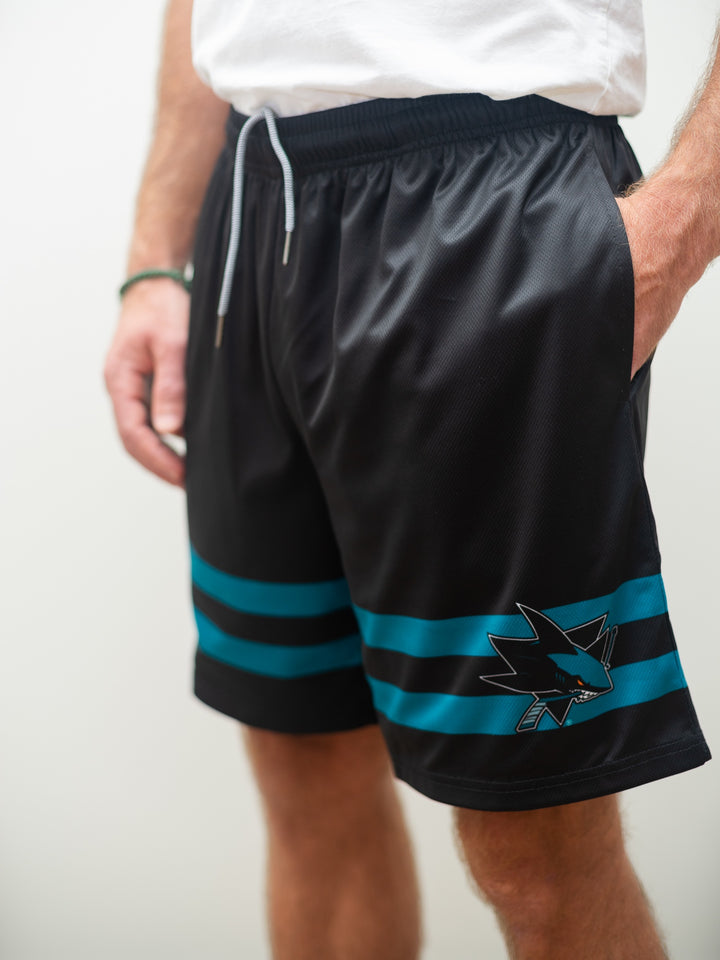San Jose Sharks Alternate Mesh Hockey Shorts - Front