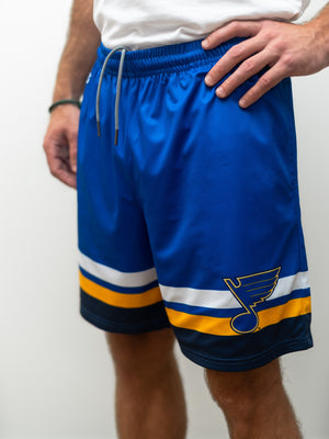 St. Louis Blues Mesh Hockey Shorts - Front