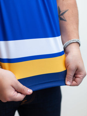 St Louis Blues Home Hockey Tank - Material Close-up